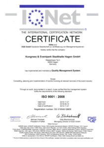2016 ISO IQNet Zertifikat